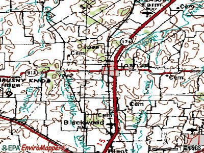 Joshua topographic map
