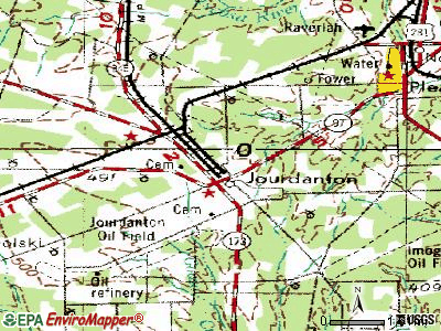 Jourdanton topographic map