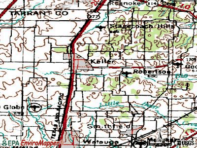 Keller topographic map
