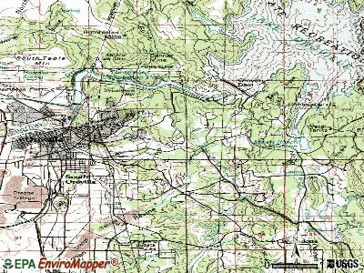 Oroville East topographic map