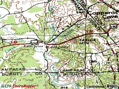 Kempner topographic map