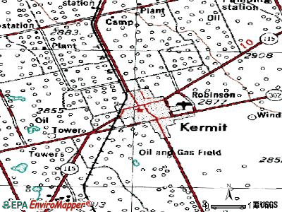 Kermit topographic map
