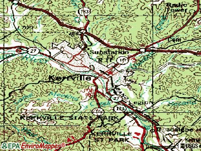 Kerrville topographic map
