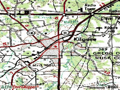 Kilgore topographic map