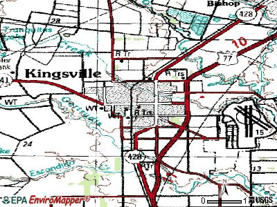 Kingsville topographic map