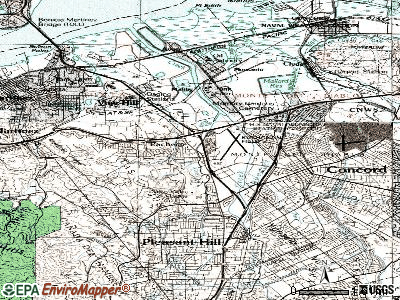Pacheco topographic map
