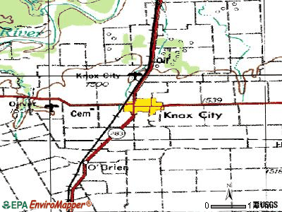 Knox City topographic map