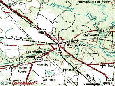 Kountze topographic map
