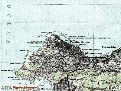 Pacific Grove topographic map