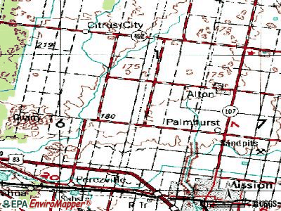 La Homa topographic map