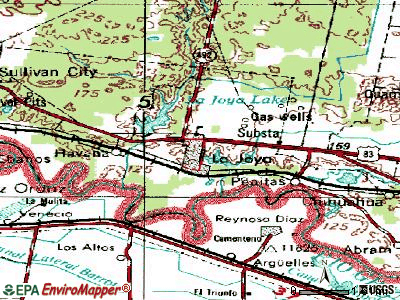 La Joya topographic map