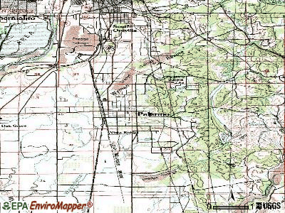 Palermo topographic map