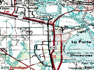 La Porte topographic map