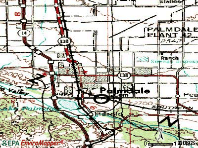 Palmdale topographic map