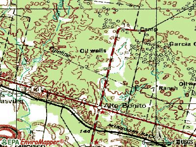 La Victoria topographic map