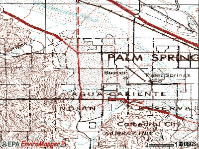 Palm Springs topographic map