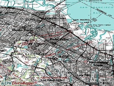 Palo Alto topographic map