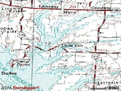 Little Elm topographic map