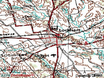 Lockhart topographic map