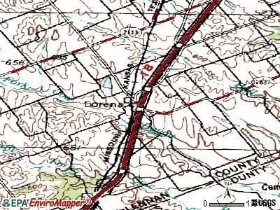 Lorena topographic map