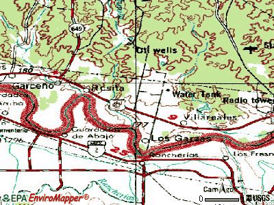 Los Alvarez topographic map