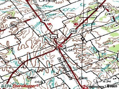 Lott topographic map