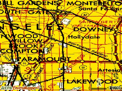Paramount topographic map
