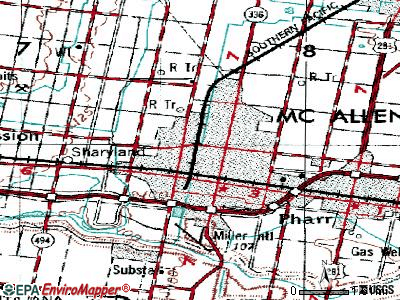 McAllen topographic map