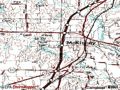 McKinney topographic map