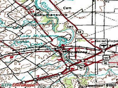 McQueeney topographic map