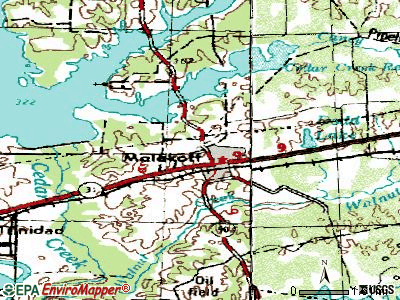 Malakoff topographic map