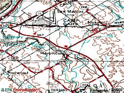 Martindale topographic map