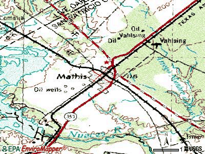 Mathis topographic map