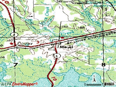 Maud topographic map