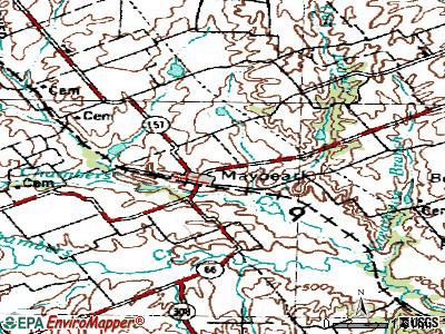 Maypearl topographic map