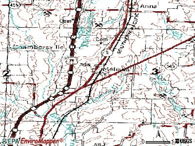 Melissa topographic map