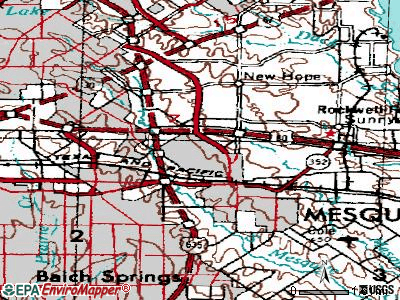 Mesquite topographic map
