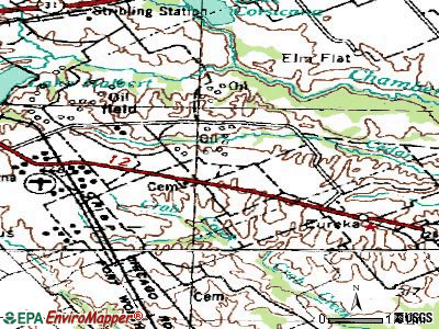 Mildred topographic map