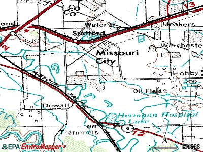 Missouri City topographic map