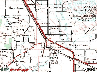 Perris topographic map