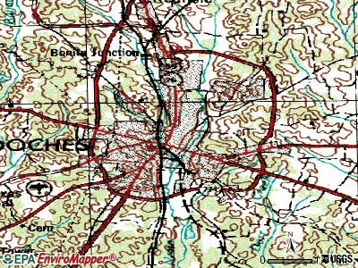 Nacogdoches topographic map