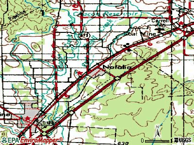 Natalia topographic map