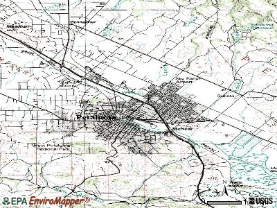 Petaluma topographic map