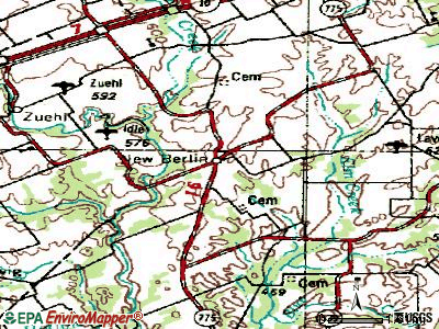 New Berlin topographic map