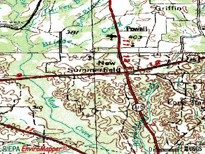 New Summerfield topographic map