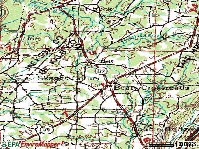 Ider topographic map