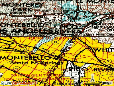 Pico Rivera topographic map