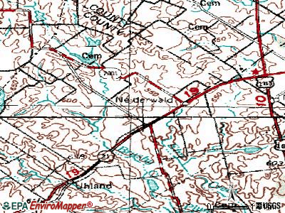 Niederwald topographic map