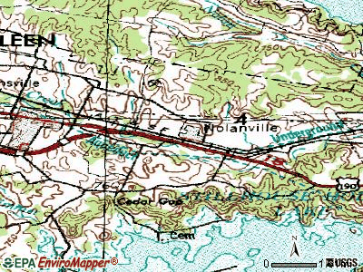 Nolanville topographic map