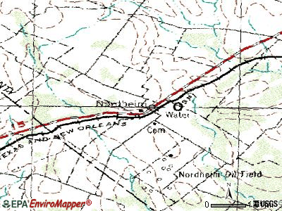 Nordheim topographic map